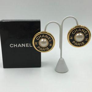 Authentic Chanel Paris Clip-On Earrings